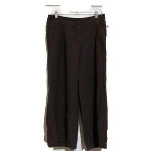 Anthropologie Elevenses Linen Pant Size 6